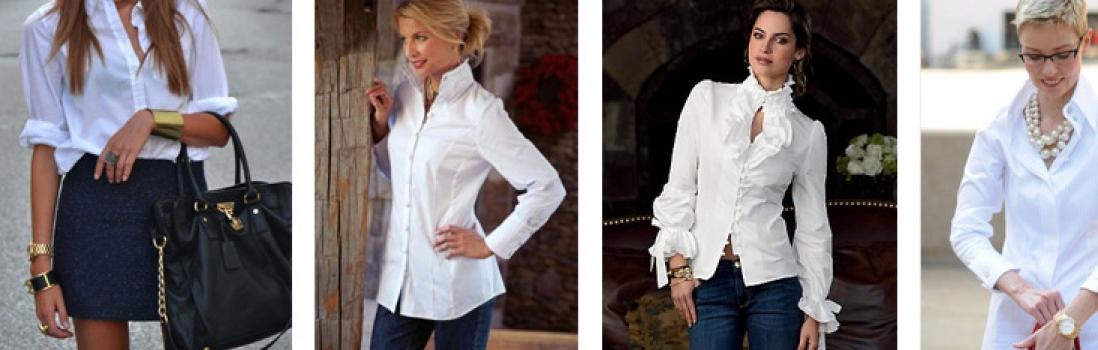 Tipy stylistky. Bílá halenka  – fenomén každého šatníku